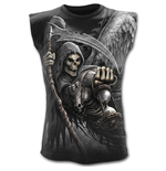 Death Angel Wrap - Allover Sleeveless T-Shirt Black