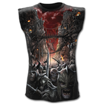 Devils Pathway - Allover Sleeveless T-Shirt Black