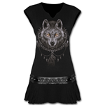 Wolf Dreams - Stud Waist Mini Dress Black