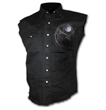 Wolf Dreams - Sleeveless Stone Washed Worker Black
