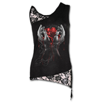 Hands Of Sorrow - Adj Shoulder Lace Top Black