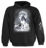 White Wolf - Kids Hoody Black