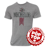 MICHELOB Men's Gray Retro Pop Top T-Shirt