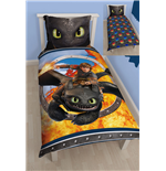How to Train Your Dragon Duvet Set Reversible Toothless 135 x 200 cm / 80 x 80 cm