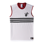 2015 Miami Heat Adidas Summer Run Reversible Tank Top (White)