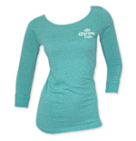 Corona Light Logo Women's Teal Light Weight Long Sleeve Shirt