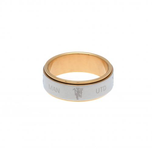 Manchester United F.C. Bi Colour Spinner Ring Medium