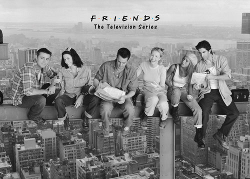 Friends On Girder Giant Poster