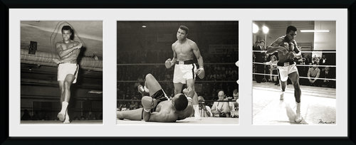 Muhammad Ali Fight Tritych Framed Collector Print