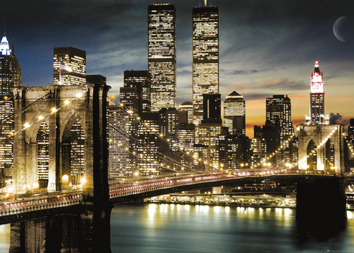 New York Manhattan Lights Giant Poster