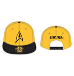 STAR TREK Kirk Command Baseball Cap, Gold