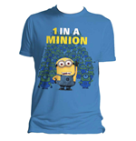 DESPICABLE ME 2 Men's 1 in a Minion T-Shirt, Small, Blue