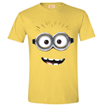 DESPICABLE ME 2 Men's Goggle Face (Daisy) T-Shirt, Small, Yellow