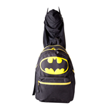 DC COMICS Batman Big Logo with Integrated Hood Backpack, Black