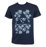 Nintendo Navy Blue Floral Triforce Zelda Tee Shirt