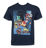 Nintendo MARIO Jumping On Goomba Men's Tee Shirt