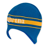 CORONA EXTRA Women's Yellow And Blue Beer Logo Beanie
