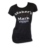 MAKER'S MARK Women's Black Arch Logo Tee Shirt