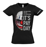 PAYDAY 2 Women's Chains Mask Small T-Shirt, Black