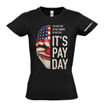 PAYDAY 2 Women's Dallas Mask Small T-Shirt, Black