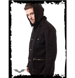 Winter Jacket with Hood and Skull Button