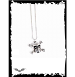 Necklace with skull & small rhinestones