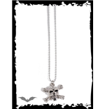 Necklace with skull & X-bones