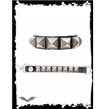 Bracelet with pyramid studs & clasp