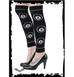 Black legwarmers with white eight balls