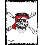 Patch: Pirate Skull with Headscarf