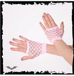 Pink double net gloves, short