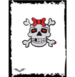 Patch: Girly Skull with red Bow