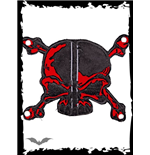 Patch: Black and red Skull & Bones