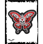 Patch: Skull with Butterfly Wings