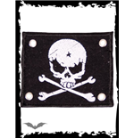 Patch with white skull