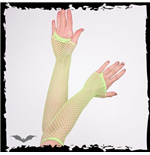 Net Gloves long green