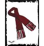 Black & red chequered scarf