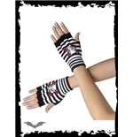 Black/white handwarmers with catbone
