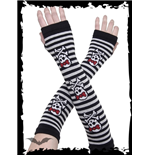 Black/white arm warmers with GirlySkulls