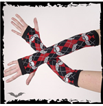 Arm warmers- black/red plaid, flying sku