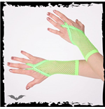 Green net gloves. Loop for finger. Short