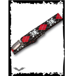 Suspenders black/red plaid with skulls
