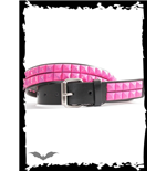 Belt with 2 Rows of Pink Studs
