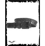 Link belt with round black studs