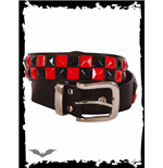 2 row black & red chessboard belt