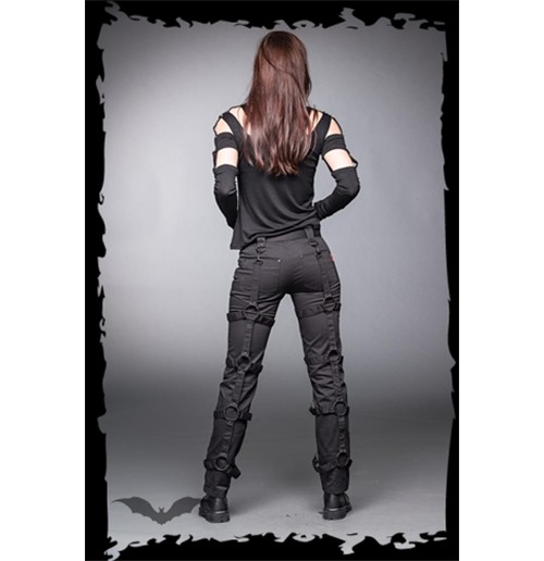 Women's Trousers with O-ring joined Stra