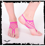 Hot pink foot net.