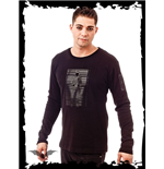 Long Sleeve Top with Human Barcode Print