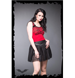 Black tulle skirt with leather look wais