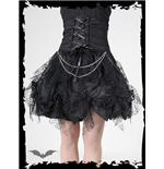 Spiderweb & black fabric layered skirt